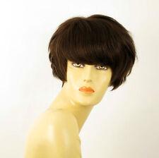 wig for women 100% natural hair chocolate brown ref BEATRICE 6 PERUK