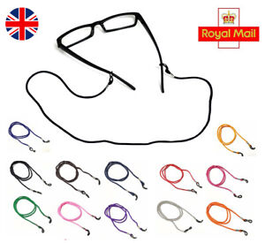 2 X GLASSES COLOUR LANYARDS NECK CORD SPECTACLES SUNGLASSES STRAPS SILICON GRIPS