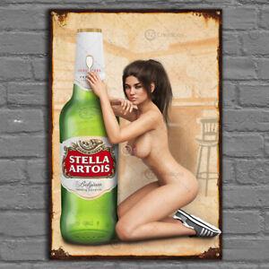 Stella Artois Vintage Metal Tin Plaque Signs Man Cave Pub Club Cafe TIKI BAR