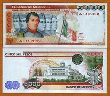 Mexico, 5000 (5,000) Pesos, 1980, P-71, A-Serie, A-Preix, UNC