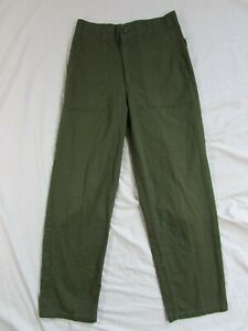 Vtg 1980 OG 507 US Army Fatigue Utility Pants Trousers Measure 29x28.5 Military