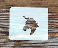 Unicorn Small Face Painting Stencil 7cm x 6cm 190micron Washable Reusable Mylar