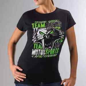 New Arctic Cat Women's Team Arctic Cathead T-Shirt  ~ Black ~XL~ # 5253-616