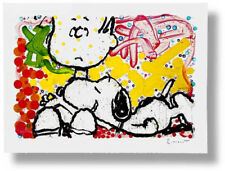"""Tom Everhart """"Super Sneaky"""" (SN) Lithograph Rare Snoopy Art"""