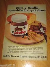 NUTELLA FERRERO =ANNO 1974=PUBBLICITA=ADVERTISING=