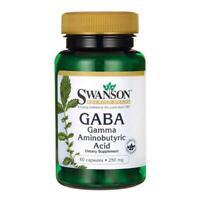 SWANSON GABA 250mg 60/120 Kapseln Gamma Aminobutyric Acid *Kostenloser Versand*