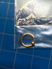 Body piercing 16 Guage 5/16 Gold Ring vintage NEW belly, nose, ear, eyebrow
