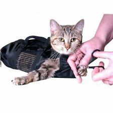 Pet Grooming Bag Anti Scratch Bath Cats Dogs Mesh Nail Clipping Trimming Cutting