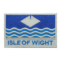 Isle Of Wight County Flag Patch Iron On Patch Sew On Embroidered Patch
