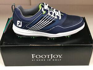 NEW FootJoy Fury 51101 Blue Men's Golf Shoes WATERPROOF 10M Were $190