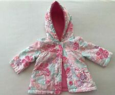 Pretty Baby hooded Jacket -floral design with PINK inner fleece Size 3 -6 months