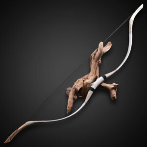70lb Cowhide Archery Traditional Recurve Bow Hunting Mongolian Horsebow Target