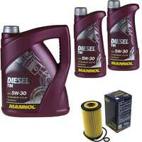 Ölwechsel Set 7L MANNOL Diesel TDI 5W-30 API Motoröl + SCT Filter KIT 10198724