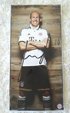 ARJEN ROBBEN HOLLAND FC BAYERN MUNICH SIGNED 4 x 8 INCH PROMO CARD Buy Authentic