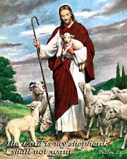 "JESUS THE GOOD SHEPHERD 4"" x 5"" Fridge Magnet Religious Art"