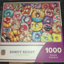 """NEW SEALED Master Pieces 1000 Piece Puzzle """"Donut Resist"""""""