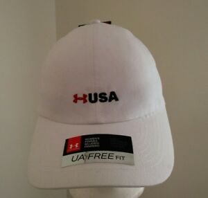 UNDER ARMOUR Women's Fitness Hat Color White 100% Cotton Adjustable
