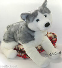 "Douglas Barker HUSKY 30"" LARGE Plush Dog Stuffed Animal Siberian 1873 NEW"