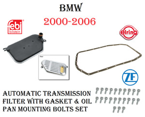 BMW Automatic Transmission Filter With Gasket & Pan Bolts Kit For 99-06 E46 E39