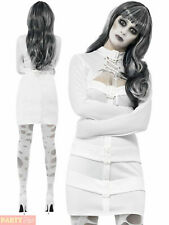 Ladies Psychotic Nympho Costume Womens Halloween Straight Jacket Fancy Dress