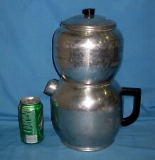 VTG WEST BEND KWIK DRIP 18 CUP ALUMINUM COFFEE Pot CAMPING/Stove top!
