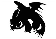 How to Train Your Dragon 2 TOOTHLESS Sticker Decal 150mmH Car Van Ute Movie. o)