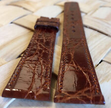 Crocodile Skin 18mm Brown Genuine MOVADO Watch Strap Band Retail $90.00