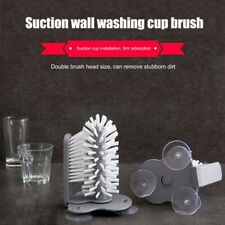 Wash Cup Glass Bottle Mug Brush Sink Stand Clean Tools Cleaner Scrubber Suction