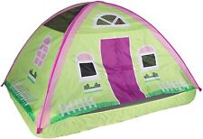 Pacific Play Tents Kids Cottage House Bed Tent Playhouse Fits Full Size Mattress
