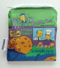 The Simpsons Mr. Burns Reusable Snack Bag Original Design Sandwich Lunch Bag NEW
