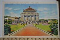 C 1945 Allegheny County Soldiers & Sailors Memorial Pittsburgh PA Postcard