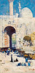 Arthur Streeton - Cairo Street Mosque, Sultan Hassan, Egypt, Art Print or Canvas