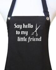 "Hair Stylist Apron ""Say Hello to my Little Friend"" salon waterproof hairdresser"