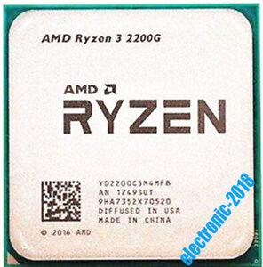 AMD Ryzen 3 2200G R3-2200G 3.5 GHz 4Core 4Thr 14NM Socket AM4 65W CPU Processor