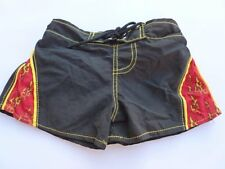 BUILD A BEAR WORKSHOP BABW BLACK RED SWIM TRUNKS BOARD SHORTS BEACH SUMMER