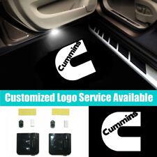 2Pcs Wireless Car Door Welcome Projector LED C Cummins Logo Shadow Lights