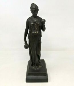 VTG Classical Greek Hebe Goddess of Youth Water Cup Bearer Bronze Sculpture CF21