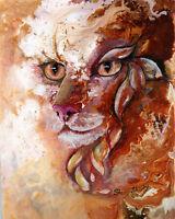 POINSETTIA SWEETHEART 8X10 CAT print by Artist Sherry Shipley