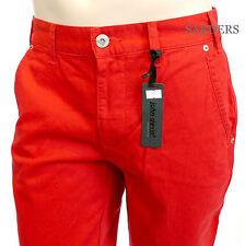 John Devin JD Chino W32 L32 Gerade Slim Fit Hose Jeans Rot Red Coloured Men Neu
