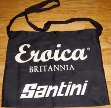 Santini Bicycle Cycle Bike Eroica Britannia Musette Black Cotton Feed Bag NEW