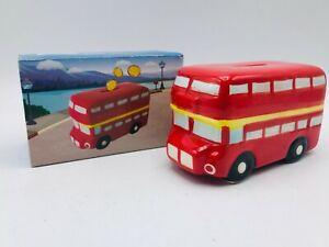 UK BIG SALE! London Routemaster Ceramic Bus Money box Piggy Bank Decoration
