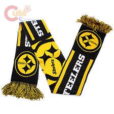 "Pittsburgh Steelers Kinnited Scarf 62"" Long NFL Team Logo Banner Scarf"
