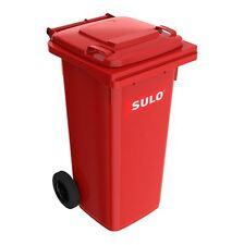 SULO Mülltonne, Mülleimer, Abfalltonne, Abfallbehälter 120 Liter in rot NEUWARE!