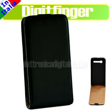 Samsung I9070 Galaxy S Advance CUSTODIA SLIM Fodero Cover Guscio ECO PELLE nera