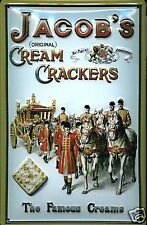 Jacobs Crackers Coach & Horses embossed steel sign 300mm x 200mm (hi) REDUCED