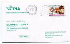 FFC 1996 PIA Pakistan Airlines First Flight Islamabad Zurich Karaki Amsterdam
