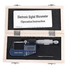 0-25mm/0-1'' 0.001mm/0.00005'' Electronic Digital External Micrometer Gauge AF