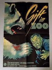 GIFT IM ZOO * Raddatz, von Meyendorff - A1-Filmposter DDR - E-Ger 1-Sheet 1955