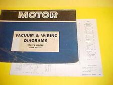 1971 1972 1973 1974 CHEVROLET VEGA COUPE KAMMBACK GT VACUUM+WIRING DIAGRAMS