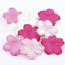 Pink Tone Mulberry Paper Blooms Card Making Craft Embellishment Flowers Pbc193